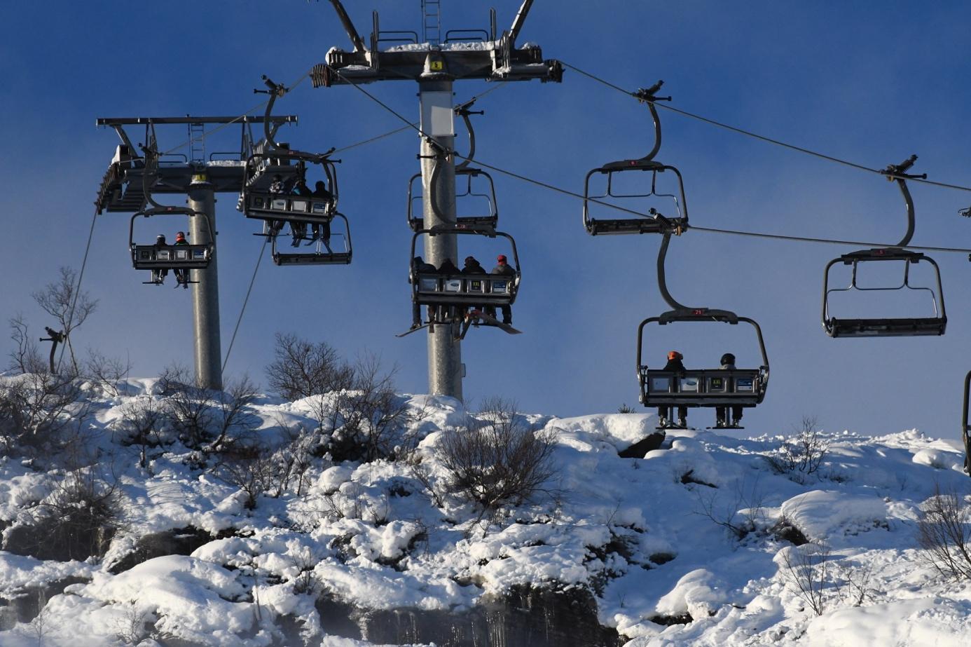 Et bilde som inneholder snø, himmel, utendørs, transport  Automatisk generert beskrivelse
