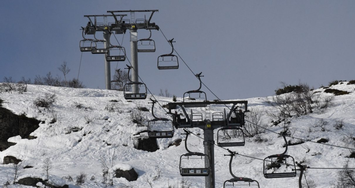 Et bilde som inneholder himmel, utendørs, snø, transport Automatisk generert beskrivelse