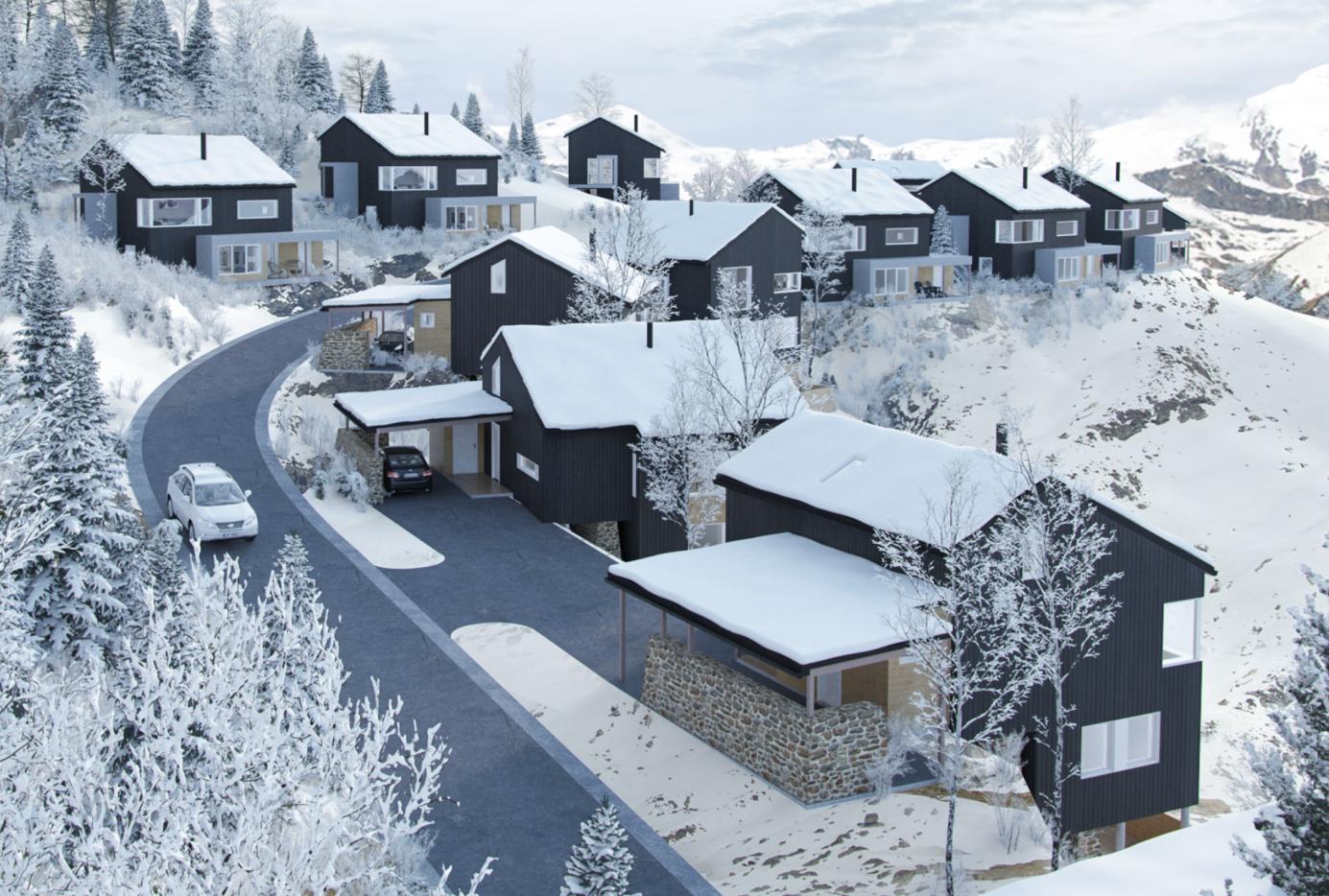 Et bilde som inneholder snø, utendørs, himmel, bakke  Automatisk generert beskrivelse
