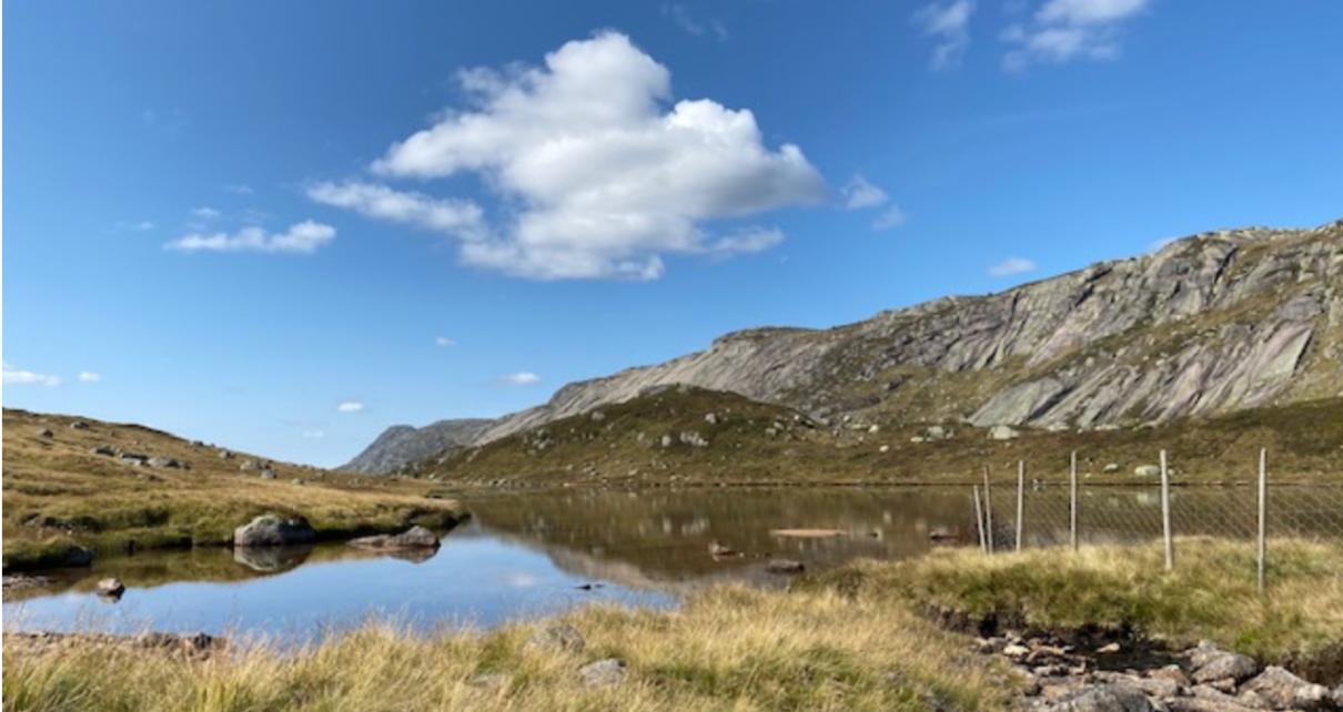 Et bilde som inneholder himmel, utendørs, gress, fjell Automatisk generert beskrivelse